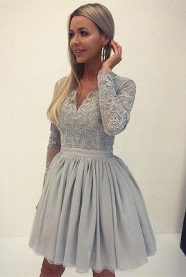 Sexy Long Sleeve Lace Homecoming Dress UK | 2019 Mini Short Dress UK_1