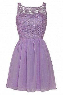 Lovely Illusion Sleeveless Chiffon Short Cocktail Dress UK With Lace_10