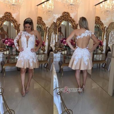 Appliques A-Line Newest One-Shoulder Short Homecoming Dress UKes UK_2