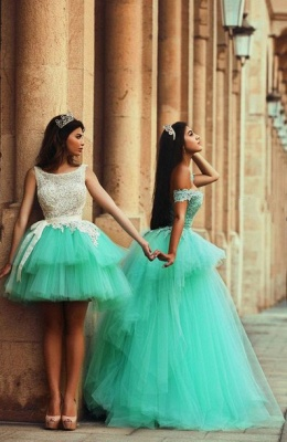 Timeless Illusion Sleeveless Tulle Homecoming Dress UK With Lace_3