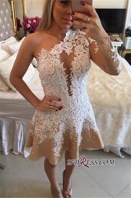 Appliques A-Line Newest One-Shoulder Short Homecoming Dress UKes UK_3