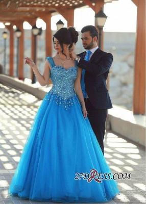 Sleeveless Long Crystals Straps A-line Luxury Evening Dress UK SP0179_4