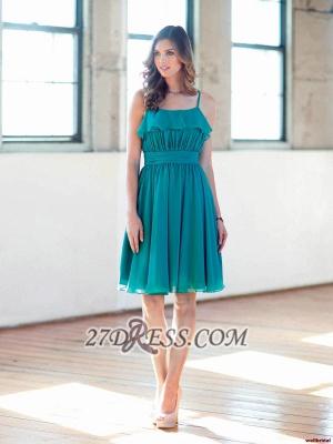Modern Sleeveless Chiffon Short Prom Dress UK With Spaghetti Strap Knee-length_1