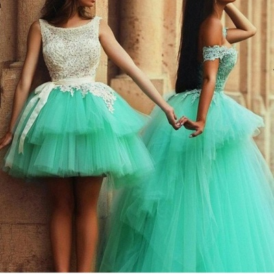 Timeless Illusion Sleeveless Tulle Homecoming Dress UK With Lace_1
