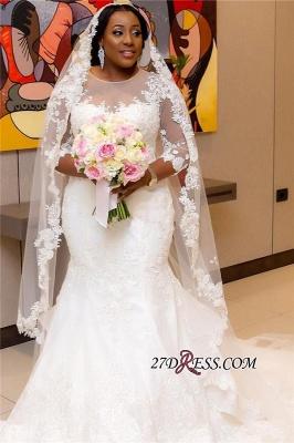 Plus Size Wedding Dress, Long Sleeve Bridal dresses BA3984_5