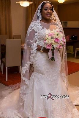 Plus Size Wedding Dress, Long Sleeve Bridal dresses BA3984_1