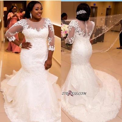 Plus Size Wedding Dress, Long Sleeve Bridal dresses BA3984_4