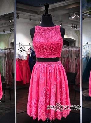 Sleeveless Jewel Mini Two-Pieces Beads A-line Newest Homecoming Dress UK_3