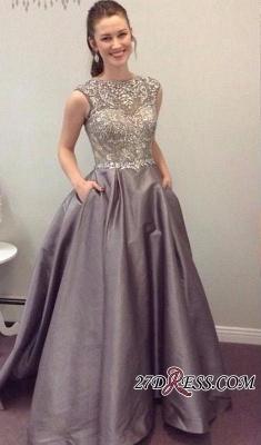 Pockets Crystal Sexy A-Line A-Line Sleeveless Prom Dress UK BA4811_2