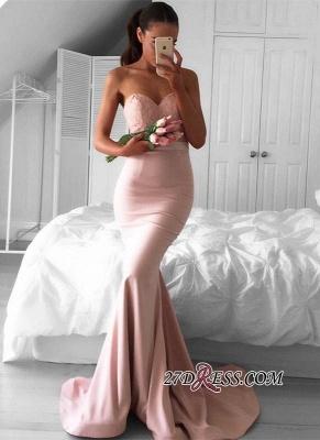 Mermaid Sweetheart Newest Sleeveless Sweep-Train Prom Dress UK BA4226_2