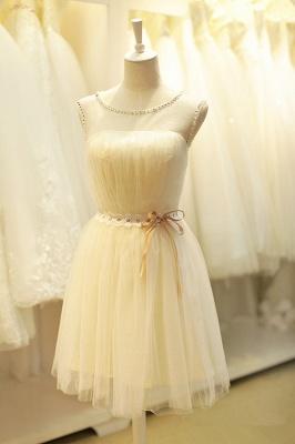 Sexy Jewel Beads Bow Homecoming Dress UK Mini Lace-up_1