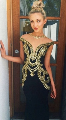 Gorgeous Beadings Mermaid Prom Dress UK Zipper High Neck Floor-length_1