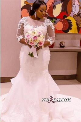 Plus Size Wedding Dress, Long Sleeve Bridal dresses BA3984_3