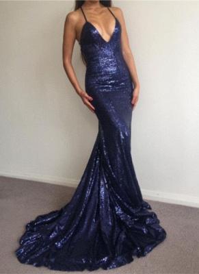 Elegant Halter V-Neck Sequins Prom Dress UK Backless Mermaid Evening Gowns BA7154_4