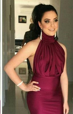 Glitz High-Neck Burgundy Prom Dress UKes UK Mermaid Long Party Gowns_1