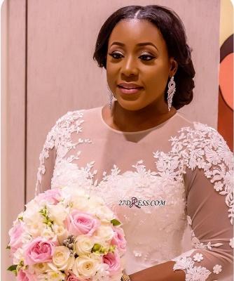Plus Size Wedding Dress, Long Sleeve Bridal dresses BA3984_2