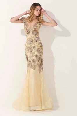 Gorgeous Long Sleeve Evening Dress UK Appliques Tulle Long_1