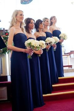 Royal Blue Evening Chic Chiffon Long Bridesmaid Dress UKes UK_1