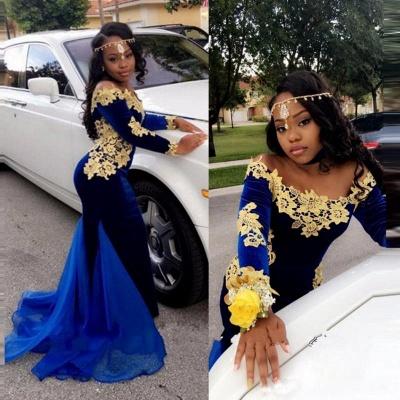 Royal blue mermaid prom Dress UK,Long sleeve evening Dress UKes UK BK0 BA8153_4