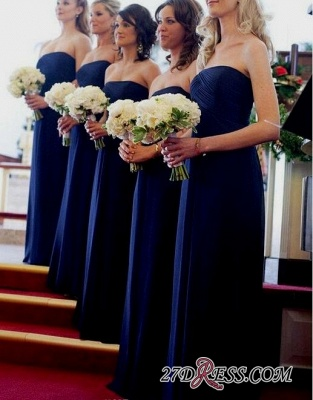 Royal Blue Evening Chic Chiffon Long Bridesmaid Dress UKes UK_3