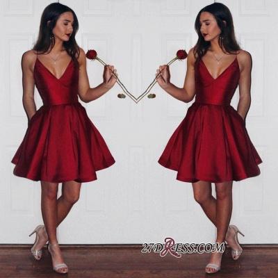 Ruby Sleeveless Newest Spaghetti-strap Short Homecoming Dress UK_3