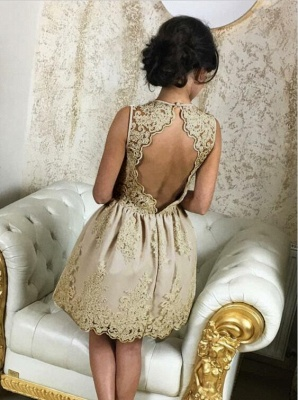 Lovely Lace Appliques Short Homecoming Dress UK On Sale_4