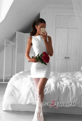Long Mermaid Sleeveless Newest Jewel Lace White Prom Dress UK_2