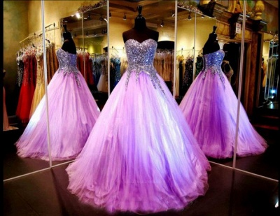 Luxurious Sweetheart Princess Tulle Evening Dress UK Crystals Sequins_2