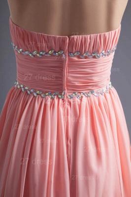 Modern Chiffon Pink Beadings Cocktail Dress UK Short Strapless_5