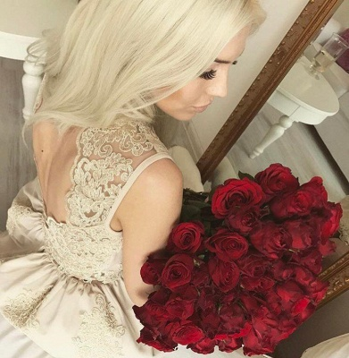 Lovely Lace Appliques Short Homecoming Dress UK On Sale_3