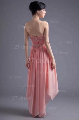 Modern Chiffon Pink Beadings Cocktail Dress UK Short Strapless_6