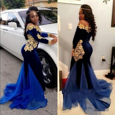 Royal blue mermaid prom Dress UK,Long sleeve evening Dress UKes UK BK0 BA8153_3