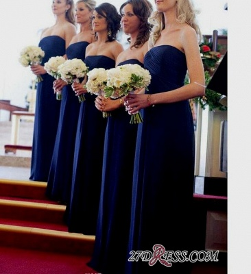 Royal Blue Evening Chic Chiffon Long Bridesmaid Dress UKes UK_2