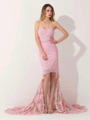 Luxury Sweetheart Short Prom Dress UK Lace Appliques Hi-Lo_3