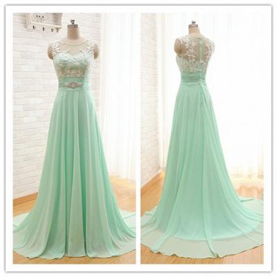 Sexy Chiffon A-line Lace Prom Dress UK Zipper Illusion Cap Sleeve BA6714_3
