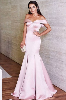 Lovely Off-the-Shoulder Mermaid Evening Dress UK Long On Sale_1