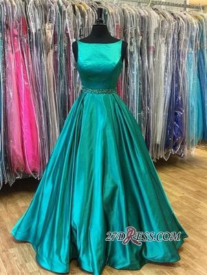Beadings A-Line Stunning Green Sleeveless Prom Dress UK BA7753_3