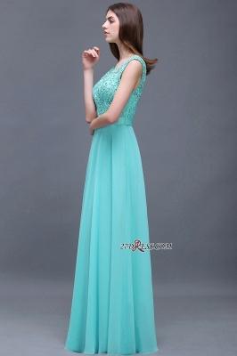 Gorgeous Lace-Appliques Chiffon A-Line Scoop prom Dress UKes UK_2