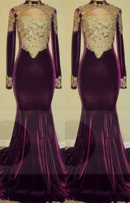 Lace long sleeve mermaid prom Dress UK, evening gowns online BA7801_1