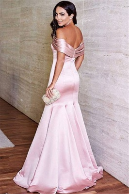 Lovely Off-the-Shoulder Mermaid Evening Dress UK Long On Sale_3