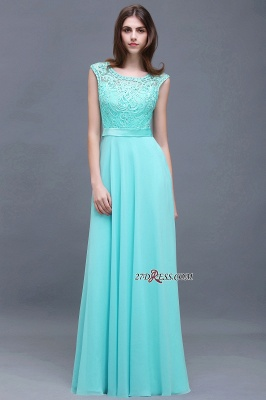 Gorgeous Lace-Appliques Chiffon A-Line Scoop prom Dress UKes UK_5