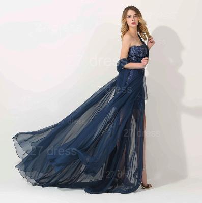 Luxury One Shoulder Lace Appliques Evening Dress UK Long Chiffon_2