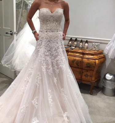 Newest Lace Appliques Sexy Mermaid Wedding Dress Tulle Long Train Sleeveless_4