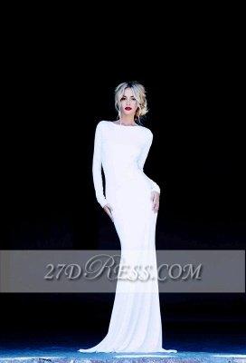 New Prom Dress UKes UK Bateau Long Sleeves Elegant Backless Floor Length White Evening Gowns_1