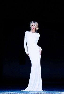 New Prom Dress UKes UK Bateau Long Sleeves Elegant Backless Floor Length White Evening Gowns_3