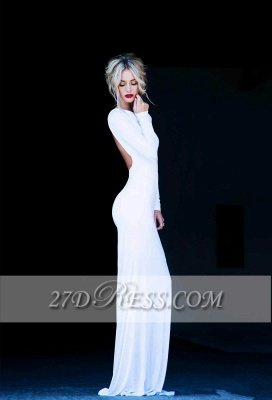 New Prom Dress UKes UK Bateau Long Sleeves Elegant Backless Floor Length White Evening Gowns_2