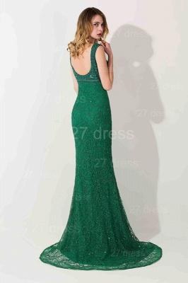 Luxury Green Long Evening Dress UK Mermaid On Sale_4