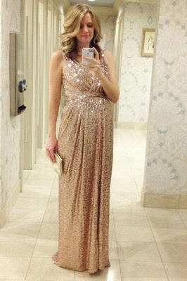 Gorgeous Sequined A-line Maternity Prom Dress UK Straps Sleeveless BO6869_1