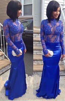Royal-Blue Mermaid Prom Dress UK | Lace Long Evening Party Dress UK BA8492_1