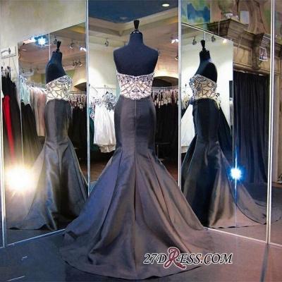 Modern Beads Sweep-Train Sleeveless Sweetheart Mermaid Evening Dress UK_2